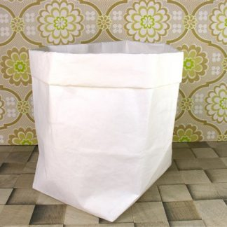 Witte opbergzak afwasbaar papier