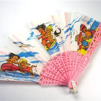 Roze retro kinder-waaier