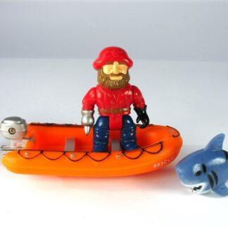 Piraat met rubberboot