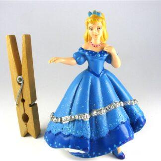 Prinses in prachtig blauwe jurk