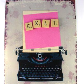 Magneetbordje met scrabbel letters