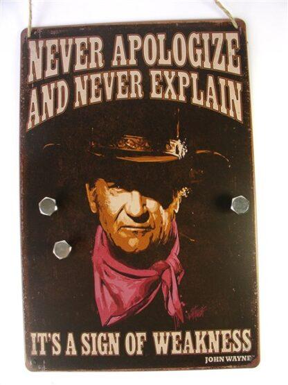 "Stoer magneetbord met ""John Wayne'"