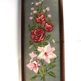 Bloemen in kruissteek