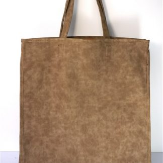 "Shopper ""leer-look"" beige"