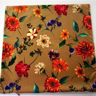 Retro kussenhoes bloemen