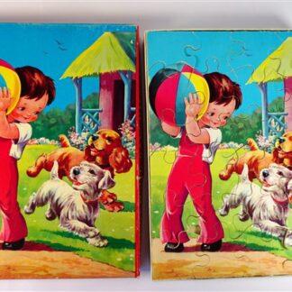 Houten vintage puzzel
