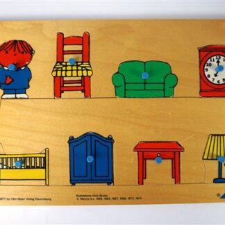 Dick Bruna puzzel meubels