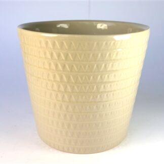 Crème pot met driehoekjes