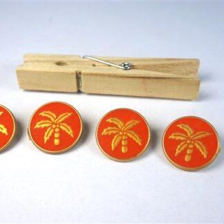 Knopen met palmbomen oranje