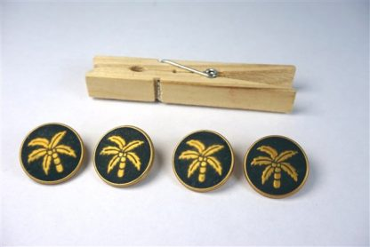 Knopen met palmbomen blauw