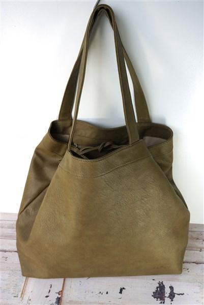 Grote shopper bruin / groen