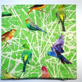 Vogelprint vierkant
