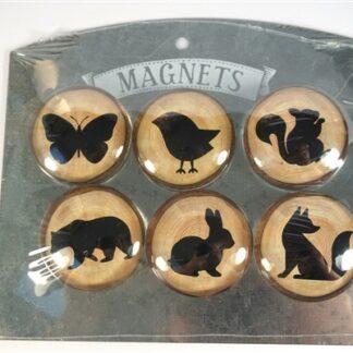 """6 """"glazenbolletjes"""" magneten"""