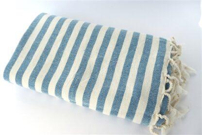 Hamamdoek streep blauw