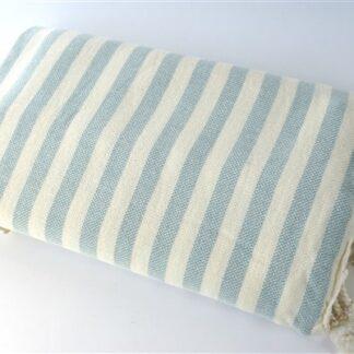 Hamamdoek streep lichtblauw
