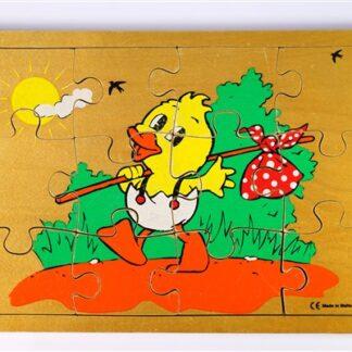 Vintage puzzel met eend