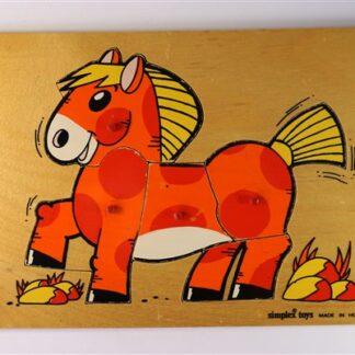 Vintage nopjespuzzel paard