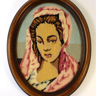 Ovaal vrouw in roze