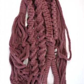 Macramé hanger roze / paars