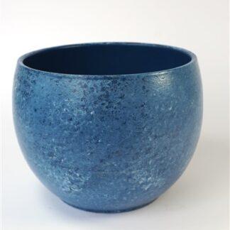 Blauwe bol-pot