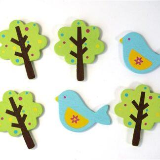 Houten vogeltjes / bomen