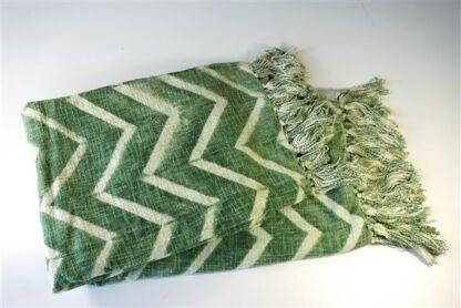 Linnen plaid wit/groen, gevoerd