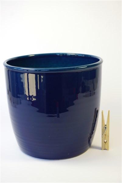 Blauw glanzende pot