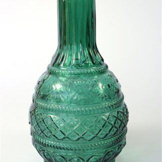 Glazen vaasje groen