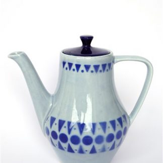 Theepot in blauw