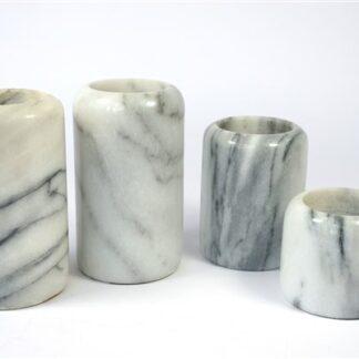 Marmeren waxinelicht houders