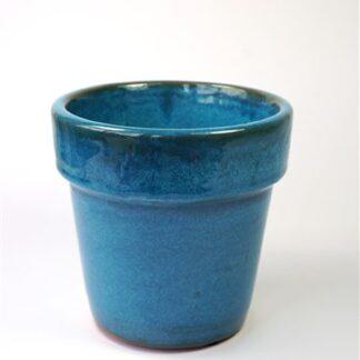 Blauw bloempotje