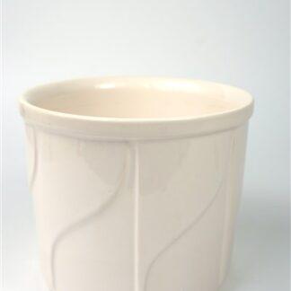 Witte pot met motief