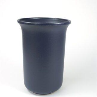 Mat blauwe vaas