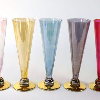 5 vintage glazen
