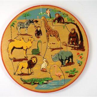 Vintage puzzel wilde dieren