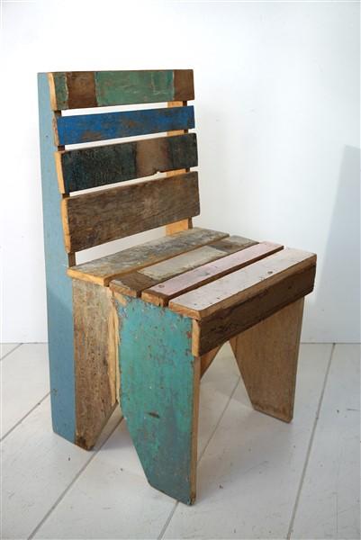 Sloop houten stoeltje