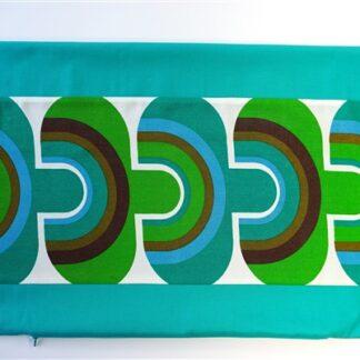 Aqua / groen print