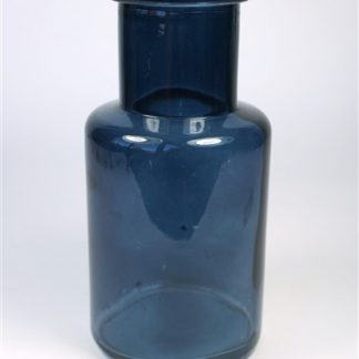 Blauw glazen vaas