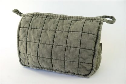 Quilted toiletbag Olive Grey