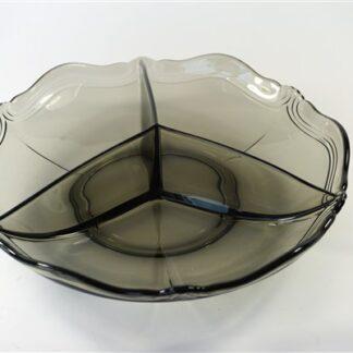 Drie vak schaal rookglas