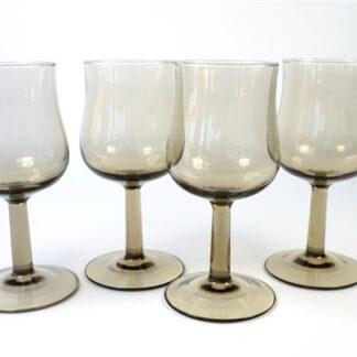 Rookglas wijnglazen