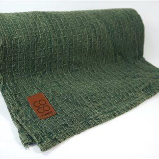 Groene plaid CoCo-maison