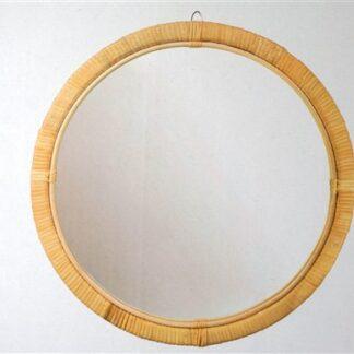 Rotan / bamboe spiegel