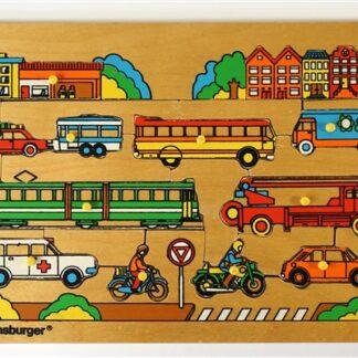 Vintage nopjespuzzel 'verkeer'