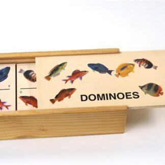 Dominoes - houten spel met vissen