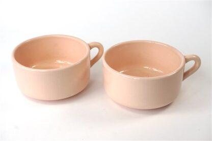 2 roze (soep)kommen