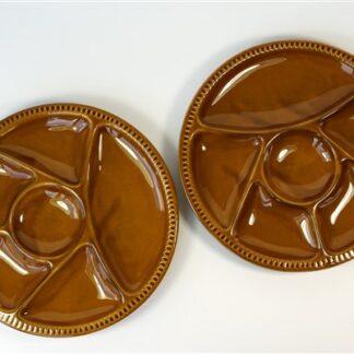 2 vintage vakjes borden