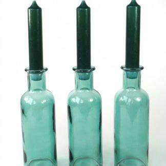 3 flesjes kandelaars
