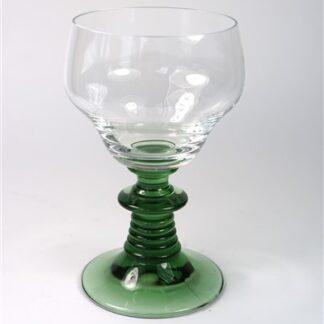 1 vintage wijnglas groen