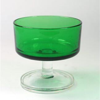 1 vintage dessertglas groen